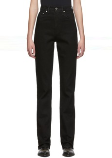 Helmut Lang Black Femme Hi Bootcut Jeans