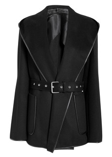 Helmut Lang Black Hooded Coat