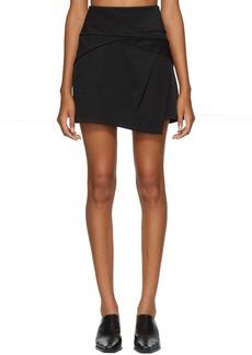 Helmut Lang Black Knot Drape Miniskirt