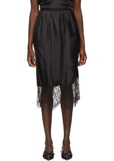 Helmut Lang Black Lace Slip Skirt