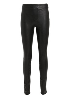 Helmut Lang Black Leather Leggings
