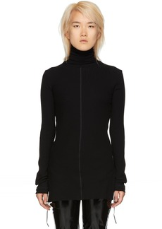 Helmut Lang Black Long Sleeve Turtleneck