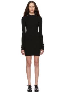 Helmut Lang Black Open Back Dress