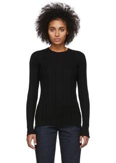 Helmut Lang Black Rib Crewneck Sweater
