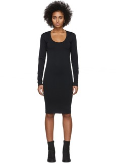 Helmut Lang Black Scoop Neck Dress