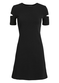 Helmut Lang Black Slash Sleeve Mini Dress