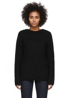 Helmut Lang Black Wool & Alpaca Ghost Sweater