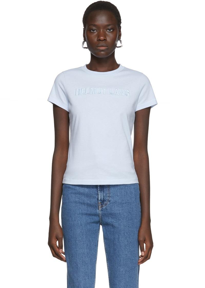 Helmut Lang Blue Baby Monogram T-Shirt