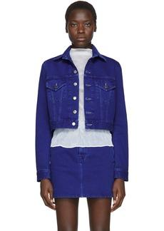 Helmut Lang Blue Denim Femme Little Trucker Jacket