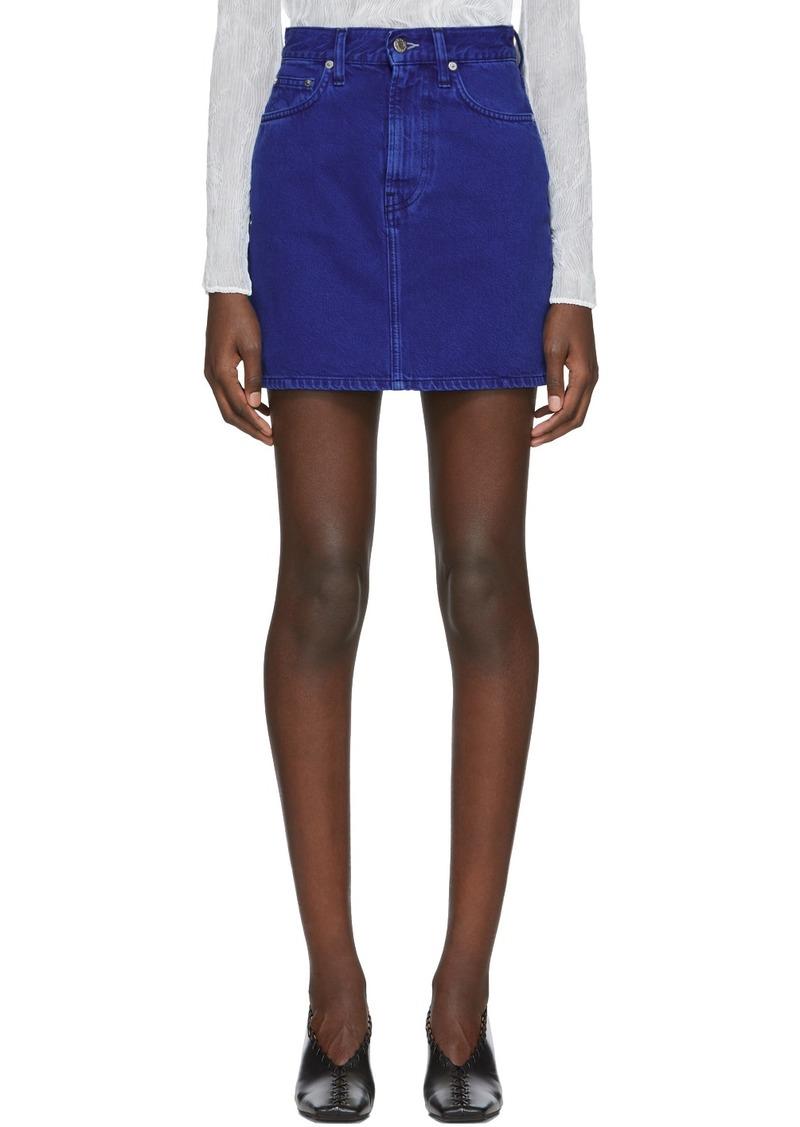 Helmut Lang Blue Denim Miniskirt