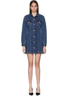 Helmut Lang Blue Femme Trucker Shirt Dress