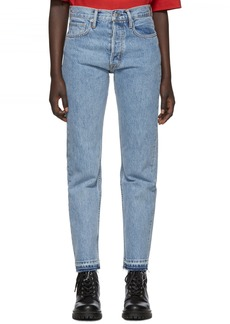 Helmut Lang Blue New Crop Straight Jeans