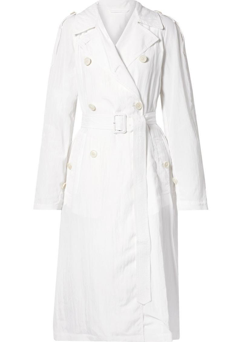 Helmut Lang Boiler Belted Crinkled-satin Trench Coat