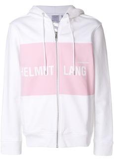 Helmut Lang branded panel hoodie