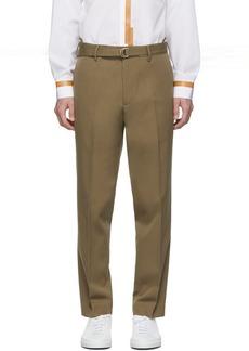 Helmut Lang Brown Cropped Slim Trousers