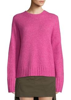Helmut Lang Brushed Wool-Alpaca Crewneck Sweater