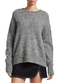 Helmut Lang Brushed Wool Crewneck Sweater