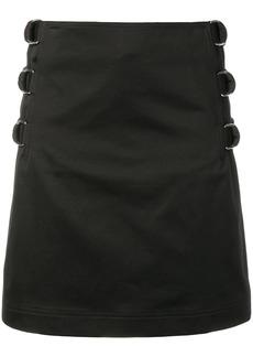 Helmut Lang buckle straight skirt