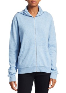 Helmut Lang Cashmere Zip Front Hoodie Jacket