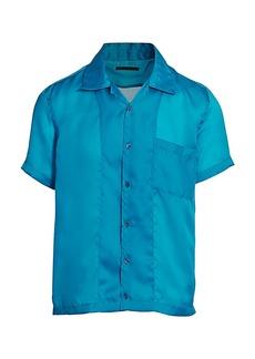 Helmut Lang Casual-Fit Satin Organza Shirt