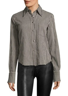 Helmut Lang Checkered Long Sleeve Button-Down