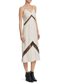 Helmut Lang Chevron Lace Slip Dress