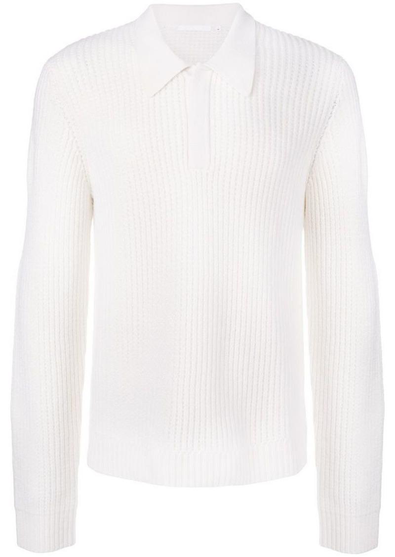0e3146b7e Helmut Lang chunky knit polo jumper   Sweaters
