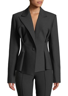 Helmut Lang Cinched-Waist Single-Button Blazer