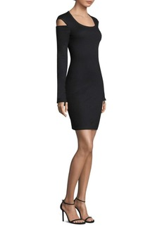 Helmut Lang Cold-Shoulder Sheath Dress