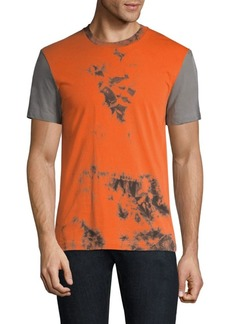 Helmut Lang Colorblock Tie-Dye Cotton T-Shirt
