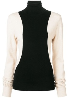 Helmut Lang colour block turtleneck sweater