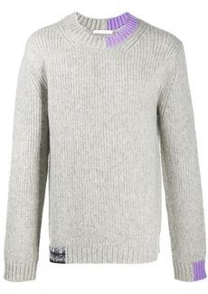 Helmut Lang contrast collar jumper