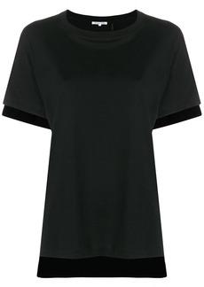 Helmut Lang contrast hem T-shirt
