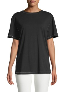 Helmut Lang Contrast Stitch Cotton Tee