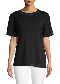 Helmut Lang Contrast-Stitch Cotton Tee