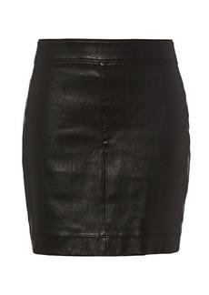 Helmut Lang Core Black Stretch Leather Mini Skirt