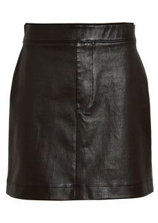 Helmut Lang Core Stretch Leather Mini Skirt