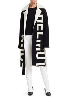 Helmut Lang Helmut Logo Wrap Coat