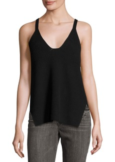 Helmut Lang Cotton Ribbed-Knit Tank