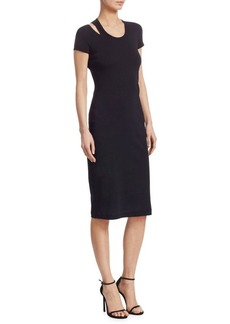 Helmut Lang Cotton Slash Dress