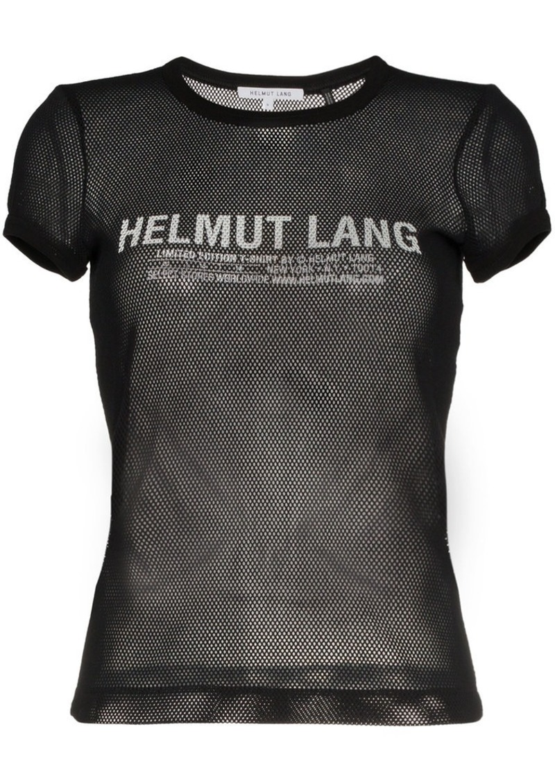 Helmut Lang crew neck tshirt mesh