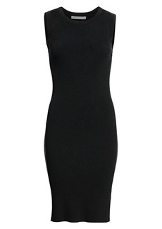 Helmut Lang Crewneck Ribbed Bodycon Dress