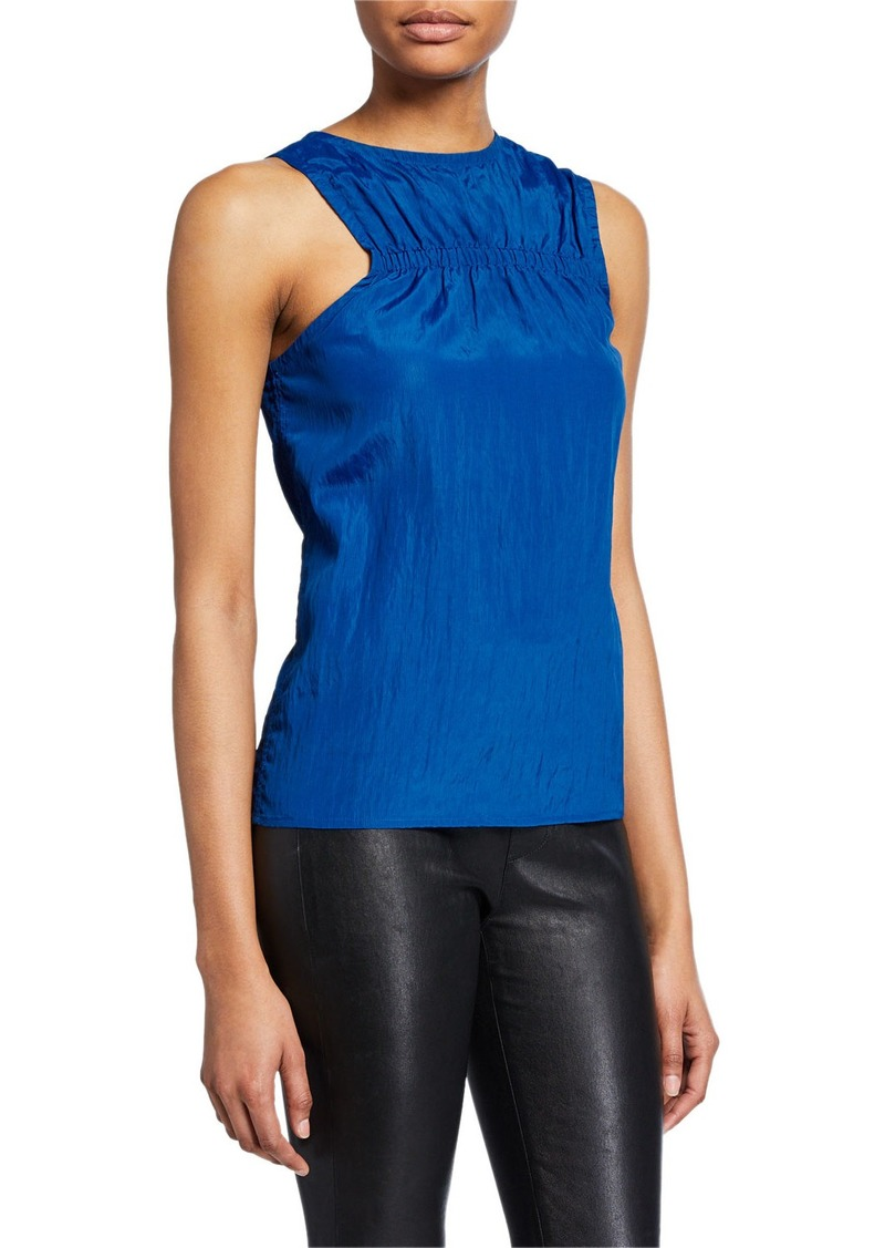 Helmut Lang Crewneck Ruched Tank Top