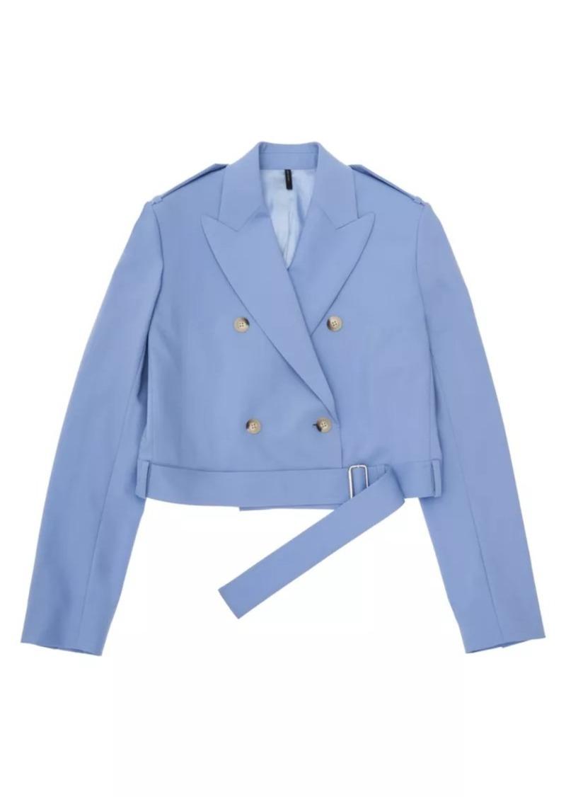 Cropped Belted Blazer
