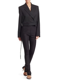 Helmut Lang Cropped Canvas Blazer