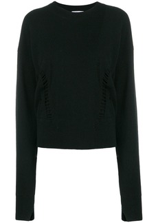 Helmut Lang cropped crewneck sweater