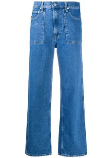 Helmut Lang cropped Factory jeans