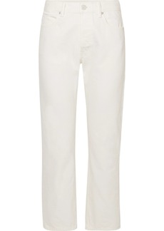 Helmut Lang Cropped high-rise straight-leg jeans
