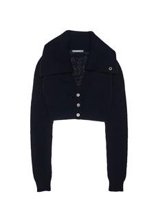 Helmut Lang Cropped Knit Cardigan