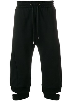 Helmut Lang cropped loose fit trousers